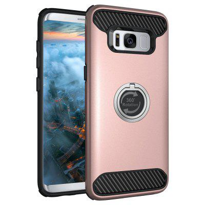 Rugged Rubber Heavy Duty Tough Dual Layer 2 em 1 360 Degree Rotating Ring Kickstand caso protetor para Samsung Galaxy S8 Plus