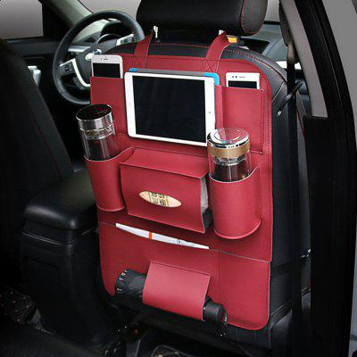 Car Seat Back Storage Bag Organizer Travel Box Pocket PU Leather Universal Stowing Tidying Protector Kids Drink Auto Acc