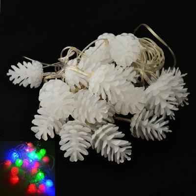 YouOKLight Holiday 4W 4M 20 LED AC110 ~ 220V RGB Pineal String Light pour Décoration de Noël - Blanc EU Plug 1PCS