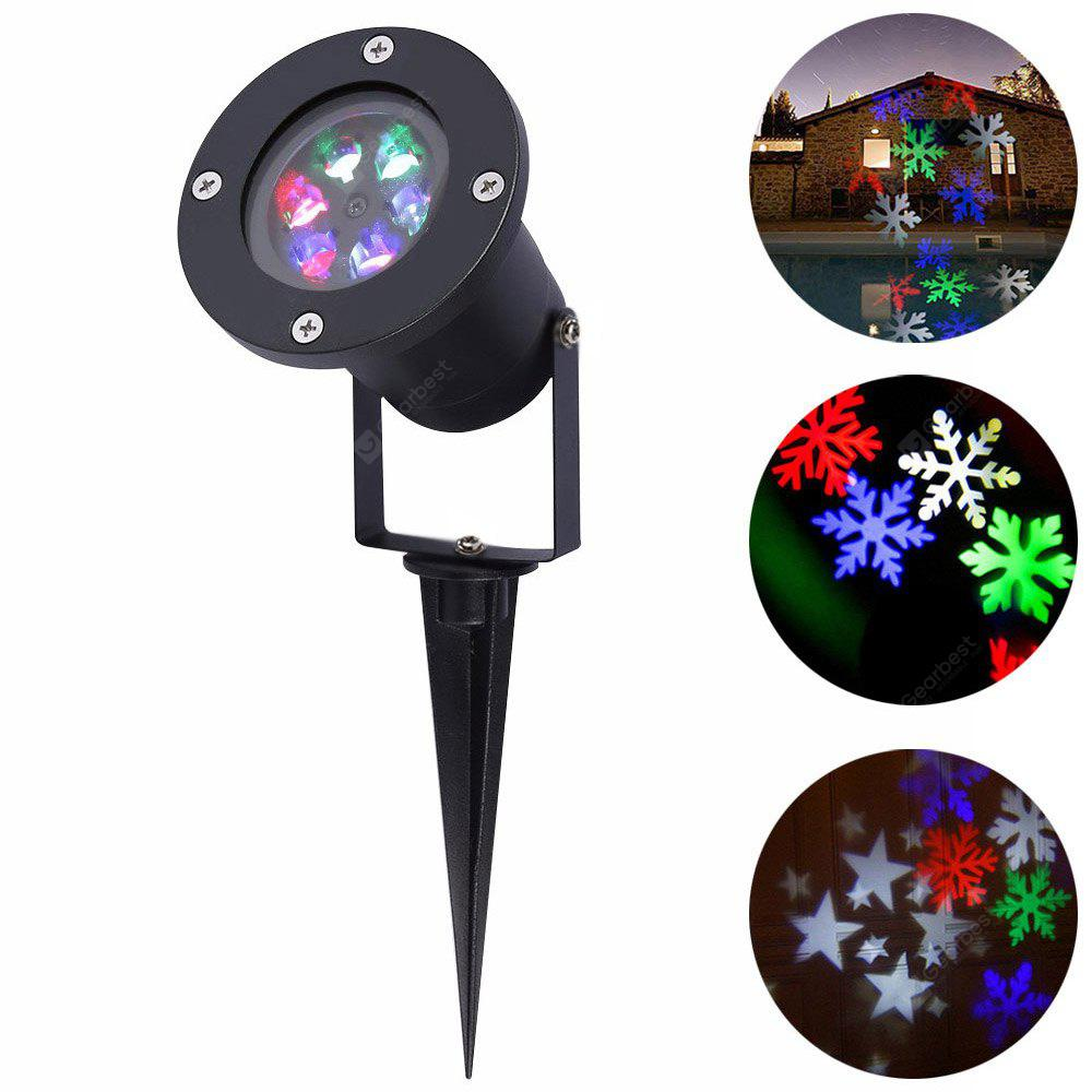 RGB YouOKLight YK2281 1PCS 12W Holiday Decoration Waterproof Outdoor LED Stage Lights RGBW Christmas Laser Snowflake Projector Lamp AC 100 240V
