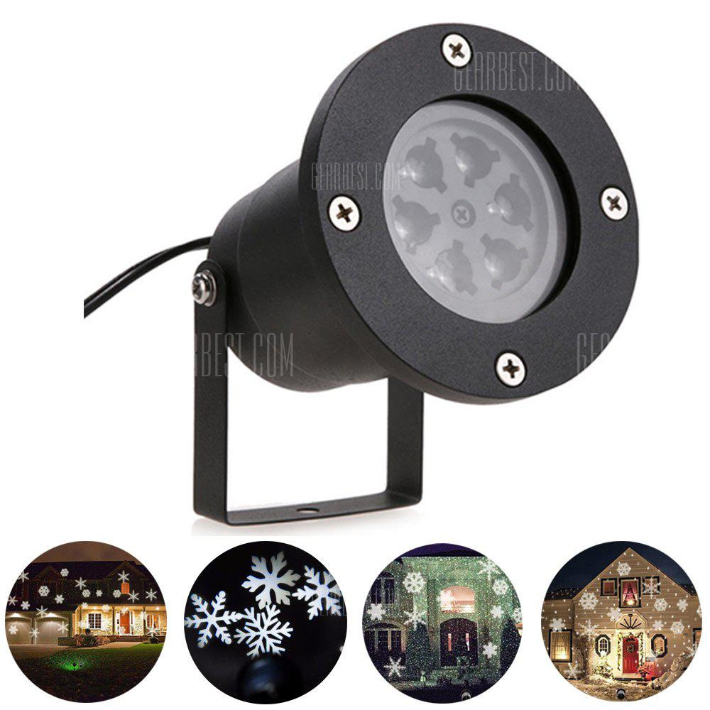 COOL WHITE LIGHT YouOKLight YK2281 Snowflake Projection LED Stage Lights