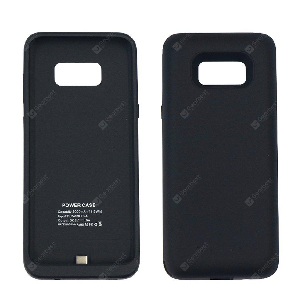 BLACK 5000mAh 5V Thin Section Back Hanging Emergency Battery for Samsung S8 Plus