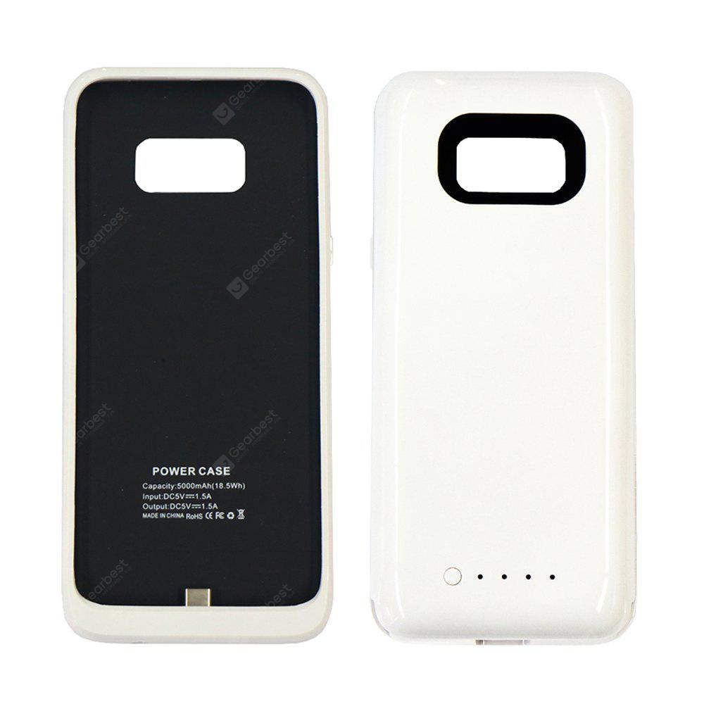 WHITE 5000mAh 5V Thin Section Back Hanging Emergency Battery for Samsung S8 Plus