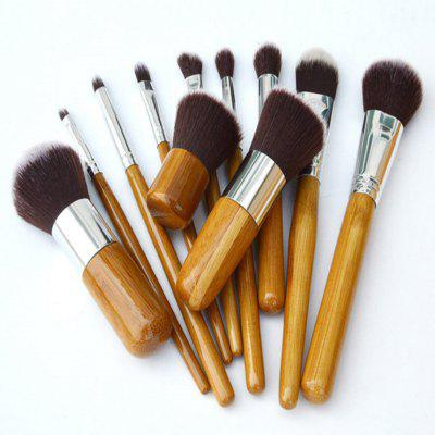 TODO 11pcs Vegan Makeup Brush With Bamboo Handle Soft Synthetic HairMakeup Brushes &amp; Tools<br>TODO 11pcs Vegan Makeup Brush With Bamboo Handle Soft Synthetic Hair<br><br>Brush Material: Fiber Hair, Synthetic Hair<br>Category: Blush Brush,Blusher,Brow Brush,Concealer Brush,Contour Brush,Eyelash Brush,Eyeshadow Brush,Foundation Brush,Lip Brush,Other Brush<br>For: Eye, Lip, Face<br>Handle Material: Aluminum, Bamboo, Wooden<br>Package Contents: 1 x Set of Bamboo Makeup Brush, 1 x Storage Punch<br>Package Size(L x W x H): 20.00 x 10.00 x 3.00 cm / 7.87 x 3.94 x 1.18 inches<br>Package weight: 0.1300 kg<br>Product Size  ( L x W x H ): 17.00 x 3.00 x 1.50 cm / 6.69 x 1.18 x 0.59 inches<br>Product weight: 0.1200 kg<br>Quantity range (pcs): 11-15<br>Type: Brush set