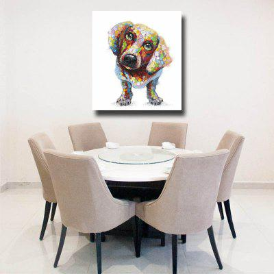 HAPPYART Pintura a óleo de lona Modern A Dog Home Decoration / Wall Art
