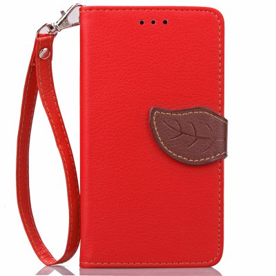 Buy RED Love Leaf Card Lanyard Pu Leather for Lenovo A536 for $5.93 in GearBest store