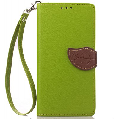 Buy GREEN Love Leaf Card Lanyard Pu Leather for Lenovo P70 for $5.93 in GearBest store