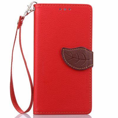 Buy RED Love Leaf Card Lanyard Pu Leather for Lenovo S90 for $5.93 in GearBest store
