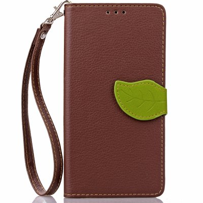 Buy BROWN Love Leaf Card Lanyard Pu Leather for Lenovo S90 for $5.93 in GearBest store