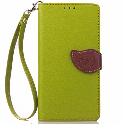 Buy GREEN Love Leaf Card Lanyard Pu Leather for Lenovo S90 for $5.93 in GearBest store