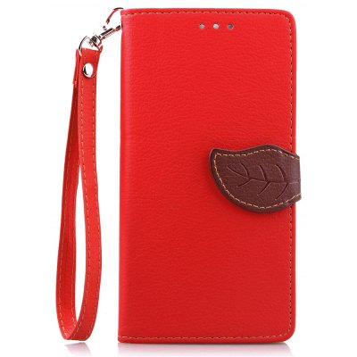 Buy RED Love Leaf Card Lanyard Pu Leather for Lenovo K3 NOTE for $6.07 in GearBest store