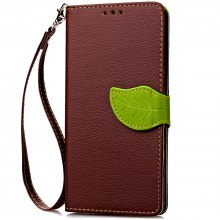 Love Leaf Card Lanyard Pu Leather for Lenovo A2010