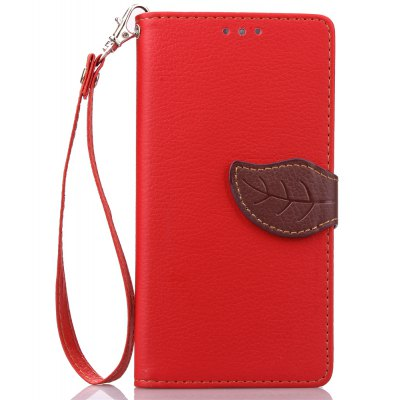 Buy RED Love Leaf Card Lanyard Pu Leather for Lenovo S850 for $5.93 in GearBest store