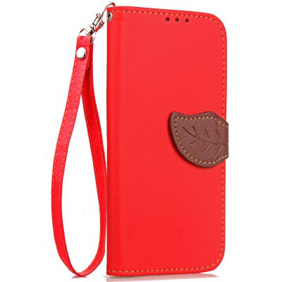 Buy RED Love Leaf Card Lanyard Pu Leather for Lenovo S1 lite for $5.93 in GearBest store