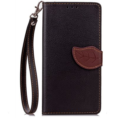 Buy BLACK Love Leaf Card Lanyard Pu Leather for Lenovo P1 for $6.07 in GearBest store