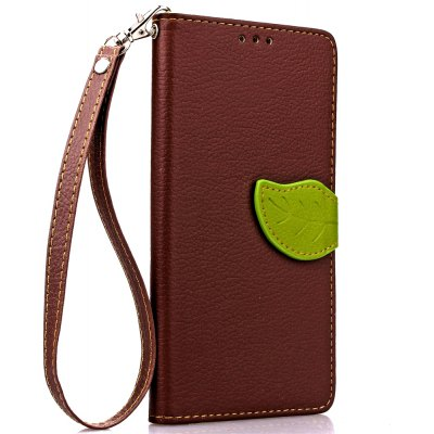 Buy BROWN Love Leaf Card Lanyard Pu Leather for Lenovo P1 for $6.07 in GearBest store