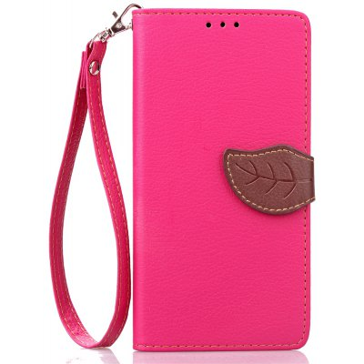 Buy ROSE RED Love Leaf Card Lanyard Pu Leather for Lenovo P1 for $6.07 in GearBest store