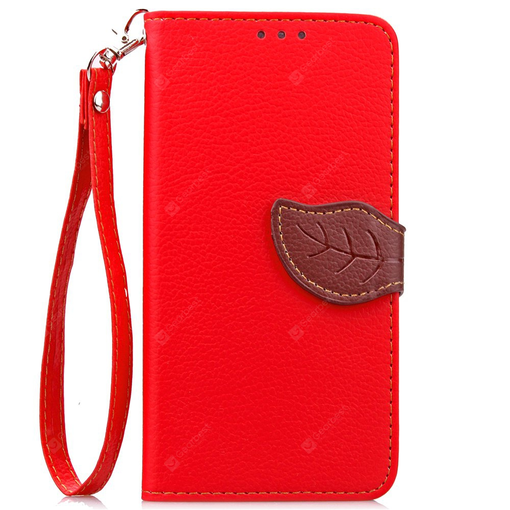 RED Love Leaf Card Lanyard Pu Leather for Lenovo P1