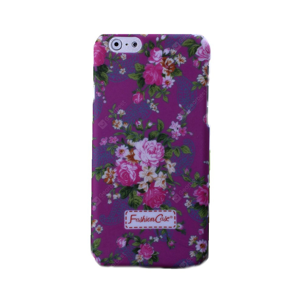 Wkae Small Fresh Vintage Floral Flower Pattern Design Plastic Hard Case Cover for iPhone 6S Plus