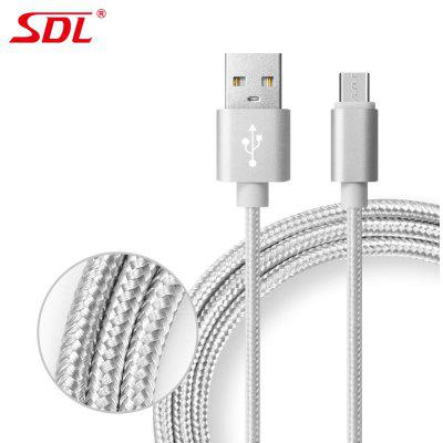 充电线MICRO USB 2 in 1 Data Charging Cable – 1M  –  GRAY