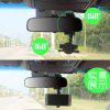 Car Rearview Mirror Dual 360 Rotating Car Phone Navigation Device Bracket - BLACK