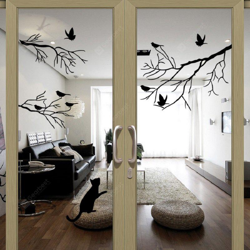 Albero di uccelli adesivi Wall Stickers Wall Decal Removable Art Home Wall