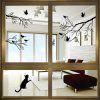 Albero di uccelli adesivi Wall Stickers Wall Decal Removable Art Home Wall - NERO