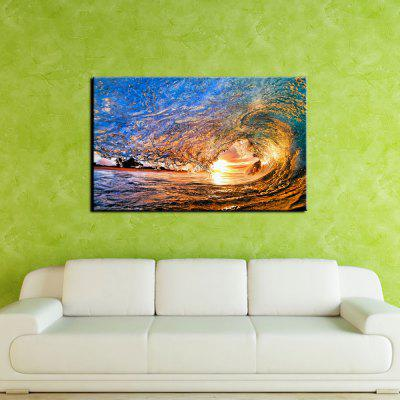 YHHP Sea Wave Landscape Picture Print Modern Wall Art on Canvas Unframed