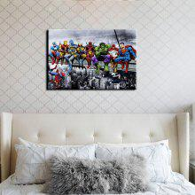 YHHP Combination of Superman Picture Print Modern Wall Art on Canvas Unframed