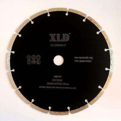 XLD Diamond  Cold-pressed Segmented Saw Blade   Grade A  230 x 2.4 x 7 x 22.23  Dry Use for Cutting Building Materials