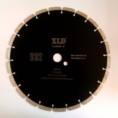 XLD Diamond  Cold-pressed Segmented Saw Blade  Grade A  300 x 3.2 x 10 x 25.4  Dry Use for Cutting Building Materials
