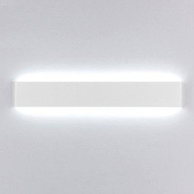 EverFlower Modern Minimalist Aluminum LED Wall Lamp Bedside Hallway Bathroom Mirror Light Max 24W White