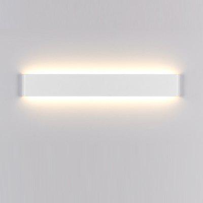 Buy WARM WHITE LIGHT EverFlower Modern Minimalist Aluminum LED Wall Lamp Bedside Hallway Bathroom Mirror Light Max 36W White for $98.38 in GearBest store