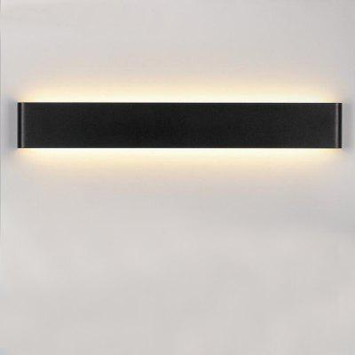 EverFlower Modern Minimalist Aluminum LED Wall Lamp Bedside Hallway Bathroom Mirror Light Max 30W Black