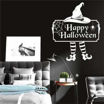 Buy Halloween Cute Clown Cartoon Creative Wall Stickers with Decoration Decor, WHITE, Home & Garden, Home Decors, Wall Art, Wall Stickers for $7.54 in GearBest store