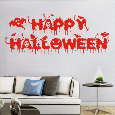 Buy Halloween Personalized creative Nightwords Pasting Decorative Wall Stickers for Decoration Decor, RED, Home & Garden, Home Decors, Wall Art, Wall Stickers for $4.46 in GearBest store