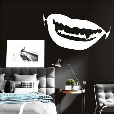 Halloween Decoration Vampire Teeth Removable Wall Stickers for Home ...