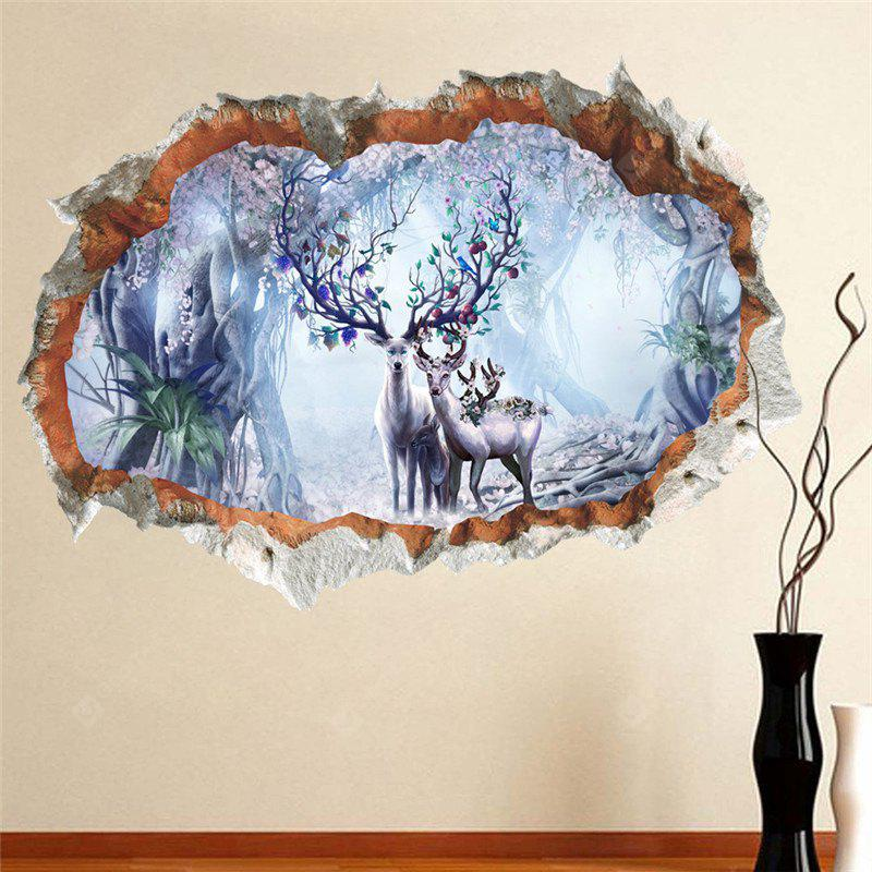 Home Decoration 3D Solid Wall Forest Plum Deer Wall Stickers for Decor, COLORMIX, Home & Garden, Home Decors, Wall Art, Wall Stickers