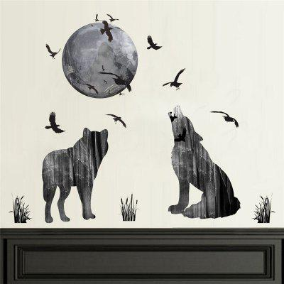 Buy Home Decoration Roar 2 Wolf Watch Month Wall Sticker for Decor, GRAY, Home & Garden, Home Decors, Wall Art, Wall Stickers for $7.11 in GearBest store