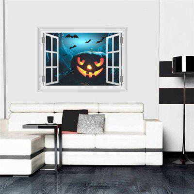 Buy Halloween Home Decoration 3D Horror Castle Pumpkin Wall Sticker for Decor COLORMIX Home & Garden > Home Decors > Wall Art > Wall Stickers for $5.76 in GearBest store