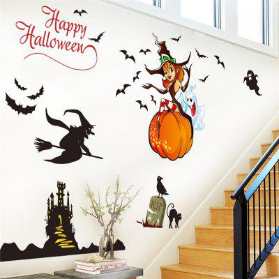 Halloween Home Decoration Witch House Castle Removable Wall Sticker for DecorWall Stickers<br>Halloween Home Decoration Witch House Castle Removable Wall Sticker for Decor<br><br>Art Style: Plane Wall Stickers<br>Function: Decorative Wall Sticker<br>Material: Vinyl(PVC)<br>Package Contents: 1 X wall Decor<br>Package size (L x W x H): 68.00 x 5.00 x 5.00 cm / 26.77 x 1.97 x 1.97 inches<br>Package weight: 0.1800 kg<br>Product size (L x W x H): 112.00 x 68.00 x 0.10 cm / 44.09 x 26.77 x 0.04 inches<br>Product weight: 0.1700 kg<br>Quantity: 1<br>Subjects: Cartoon,Architecture<br>Suitable Space: Living Room,Bedroom,Kids Room<br>Type: Plane Wall Sticker
