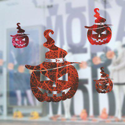 Halloween Home Decoration Scary Assombrado House Pumpkins Wall Sticker para Decor
