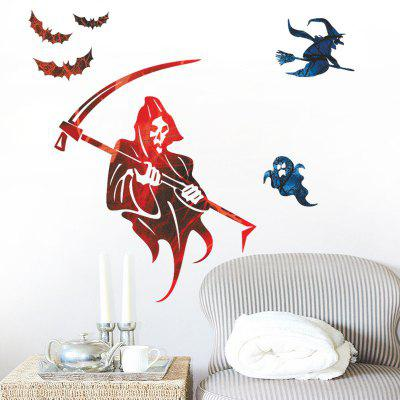 Buy Hallowmas Home Decoration Witch Bat Haunted House Removable Wall Sticker for Decor, COLORMIX, Home & Garden, Home Decors, Wall Art, Wall Stickers for $4.89 in GearBest store