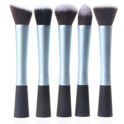 TODO 5PCS Pro Duo-Fiber Face Makeup Brush Multi Task Set