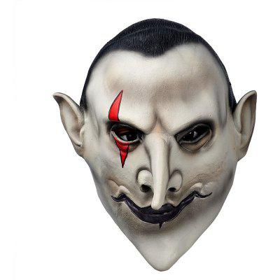Yeduohorror Devils Latex Scary Mask Earl of Hell Face Vampire Bloodsucker Halloween Masquerade Mascara Terror Cosplay Party Props