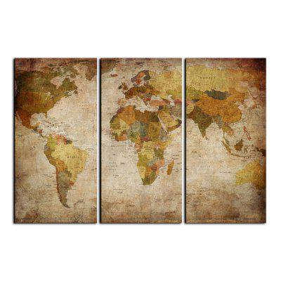 Yhhp 3 Panels The World Map Picture Print Modern Wall Art On Canvas UnframedPrints<br>Yhhp 3 Panels The World Map Picture Print Modern Wall Art On Canvas Unframed<br><br>Brand: YHHP<br>Craft: Print<br>Form: Three Panels<br>Material: Canvas<br>Package Contents: 3 X Panel of Print<br>Package size (L x W x H): 52.00 x 10.00 x 10.00 cm / 20.47 x 3.94 x 3.94 inches<br>Package weight: 0.5000 kg<br>Painting: Without Inner Frame<br>Product size (L x W x H): 90.00 x 50.00 x 3.00 cm / 35.43 x 19.69 x 1.18 inches<br>Product weight: 0.4000 kg<br>Shape: Vertical<br>Style: Modern Style<br>Subjects: Famous<br>Suitable Space: Living Room,Office,Study Room / Office