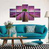 Yhhp 5 Paneles Lavanda Jardín Picture Print Moderno Wall Art On Canvas Unframed - DALIA