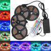 SUPli  LED Strip Set 20M ( 4 x5M ) Waterproof 96W 1200LEDs 2835 RGB Strip Flexible Light 44Key IR Remote Controller 8A Power Supply AC 100 - 240V - RGB COLOR