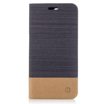 Design de lona de estilo simples Flip PU Leather Case for OnePlus 5