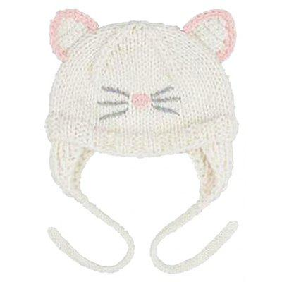 Baby Hat Cute Cat Embroidery Ears Decoration Hat Helmet